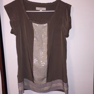 LOFT Sequin Dress shirt